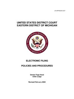 UNITED STATES DISTRICT COURT EASTERN DISTRICT OF …