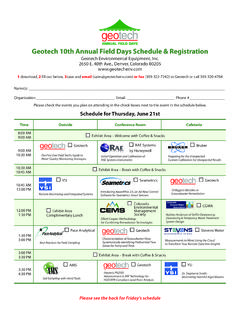 Geotech 10th Annual Field Days Schedule & …