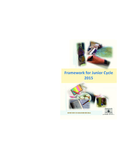 A Framework for the Junior Cycle - education.ie