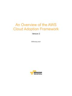 An Overview of the AWS Cloud Adoption Framework