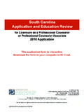 South Carolina Application and Education Review - …