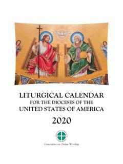 FOR THE DIOCESES OF THE UNITED STATES OF AMERICA 2020