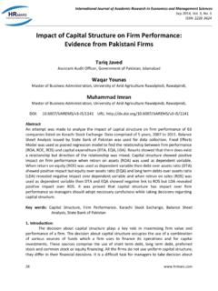 Impact of Capital Structure on Firm Performance: Evidence ...