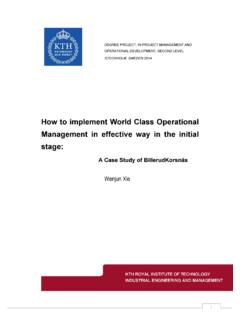 How to implement World Class Operational …