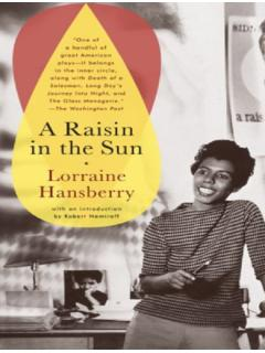 The Movement LORRAINE HANSBERRY - American Literature