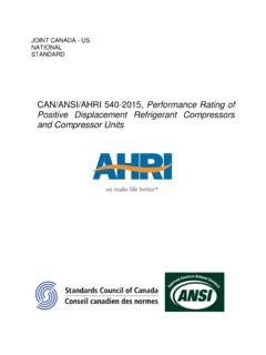 CAN/ANSI/AHRI 540-2015, Performance Rating of …