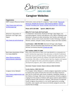 Caregiver Websites - eldersource.org