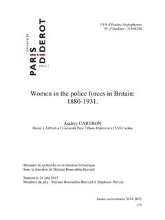 Women in the police forces in Britain: 1880-1931.
