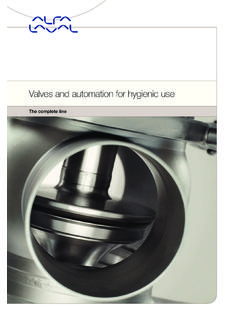 Valves and automation for hygienic use - Alfa Laval