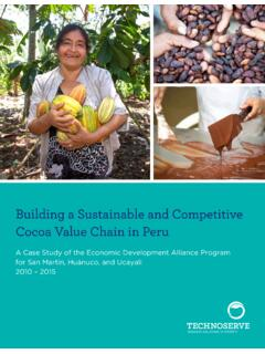 Building a Sustainable and Competitive Cocoa Value Chain ...