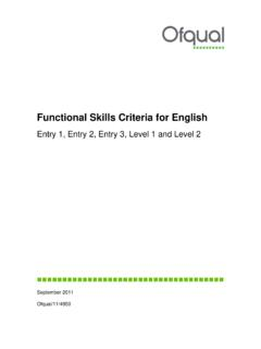 Functional Skills Criteria for English - GOV.UK