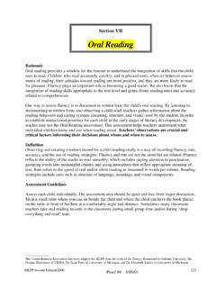 Oral Reading - Macomb Intermediate School District