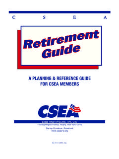 A PLANNING & REFERENCE GUIDE FOR CSEA MEMBERS