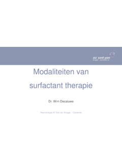 Modaliteiten van surfactant therapie - Draeger