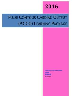Pulse Contour Cardiac Output (PiCCO) Learning Package