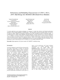 Performance and Reliability Characteristics of …