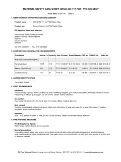 MATERIAL SAFETY DATA SHEET: WELD-ON 717 FOR …
