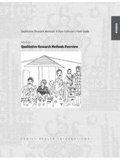 Module 1 Qualitative Research Methods Overview