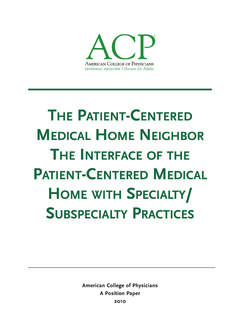 THE PATIENT-CENTERED MEDICAL HOME NEIGHBOR THE …