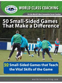 For the World's Most Innovative Soccer Coaches 50 Small ...