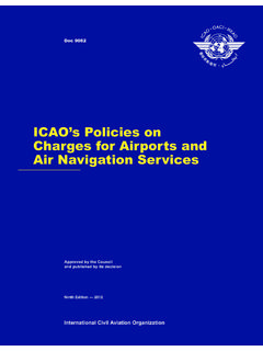 ICAO's Policies on Charges for Airports and Air …