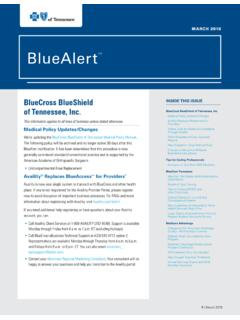 BlueAlert SM - Health Insurance