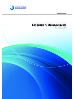 Language A: literature guide