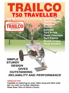 T50 TRAVELLER - Trailco Irrigation