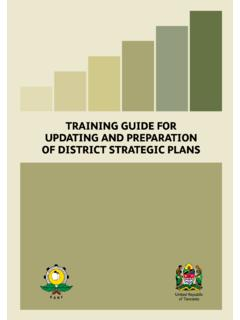 TRAINING GUIDE FOR UPDATING AND PREPARATION OF …