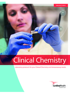 Cardinal Health Clinical Chemistry Catalog