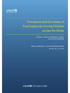 Prevalence and Correlates of Food Insecurity among ...