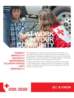 AT WORK IN YOUR COMMUNITY - Canadian Red …