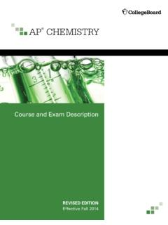 AP Chemistry Course and Exam Description - College Board