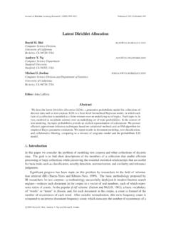 Latent Dirichlet Allocation - Journal of Machine …