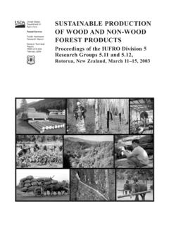 Sustainable Production of Wood and Non-wood …