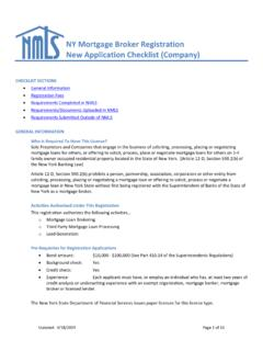 Company New Application Checklist Agency Requirements