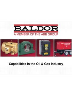 Capabilities in the Oil & Gas Industry - Baldor.com