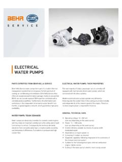 ELECTRICAL WATER PUMPS - behrhellaservice.com