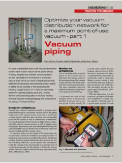 Optimize your vacuum distribution network for a …