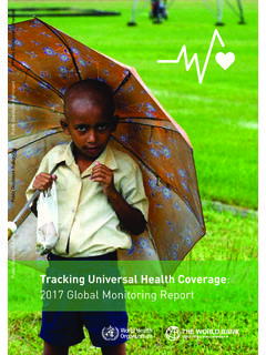 ISBN 978 92 4 151355 5 Tracking Universal Health Coverage