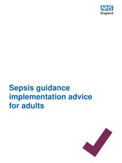 Sepsis guidance implementation advice for adults