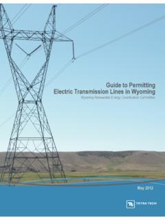 Guide to Permitting Electric Transmission Lines in Wyoming