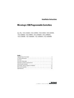 MicroLogix 1200 Programmable Controllers - Literature …
