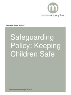 Date of last review: April 2017 Safeguarding Policy ...