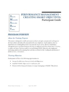 About the Training Program Training Objectives