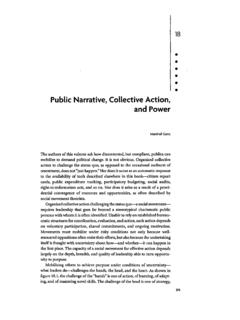 Public Narrative, Collective Action, - Marshall Ganz