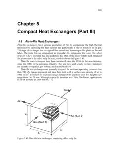 Chapter 5 Compact Heat Exchangers (Part III)
