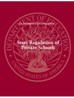 State Regulations of Private Schools (PDF)