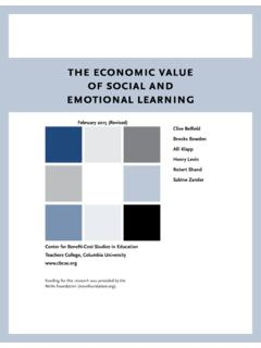 the economic value of social and emotional learning