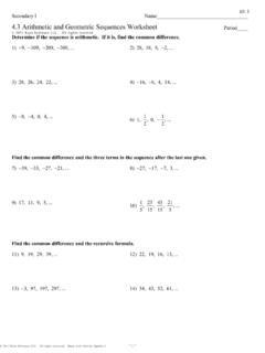 Arithmetic And Geometric Sequences Worksheet Arithmetic And Geometric Sequences Worksheet Pdf Pdf4pro